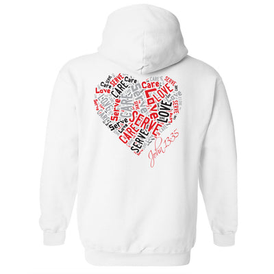 Cross Over Hoops White Hoodie A