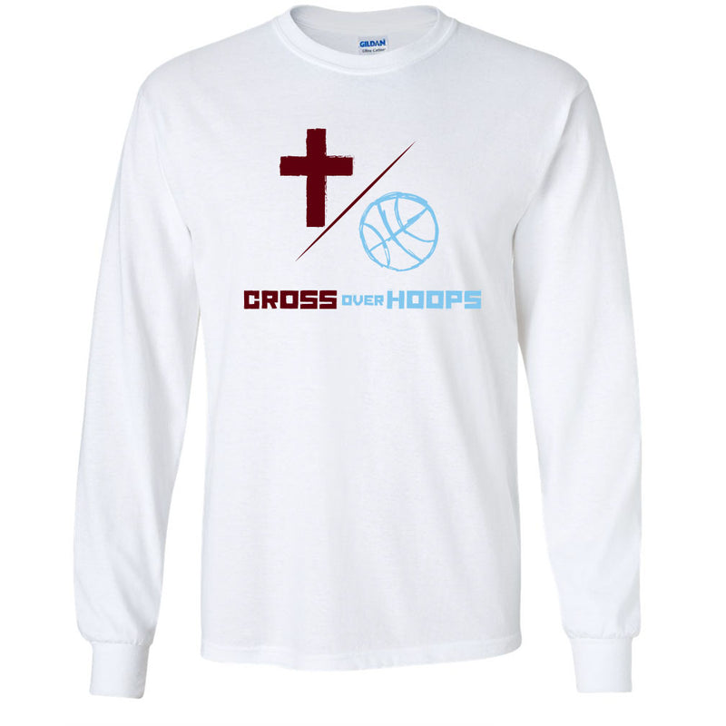Cross Over Hoops White Long Sleeve B