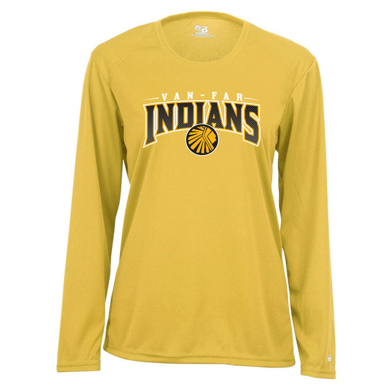 Van-Far Indians Ladies Drifit Long Sleeve