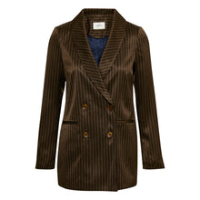 Brun-stribet blazer
