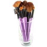 Karity Cosmetics Studio 12-Piece Natural Hair Makeup Brush Set With Pouch - Purple