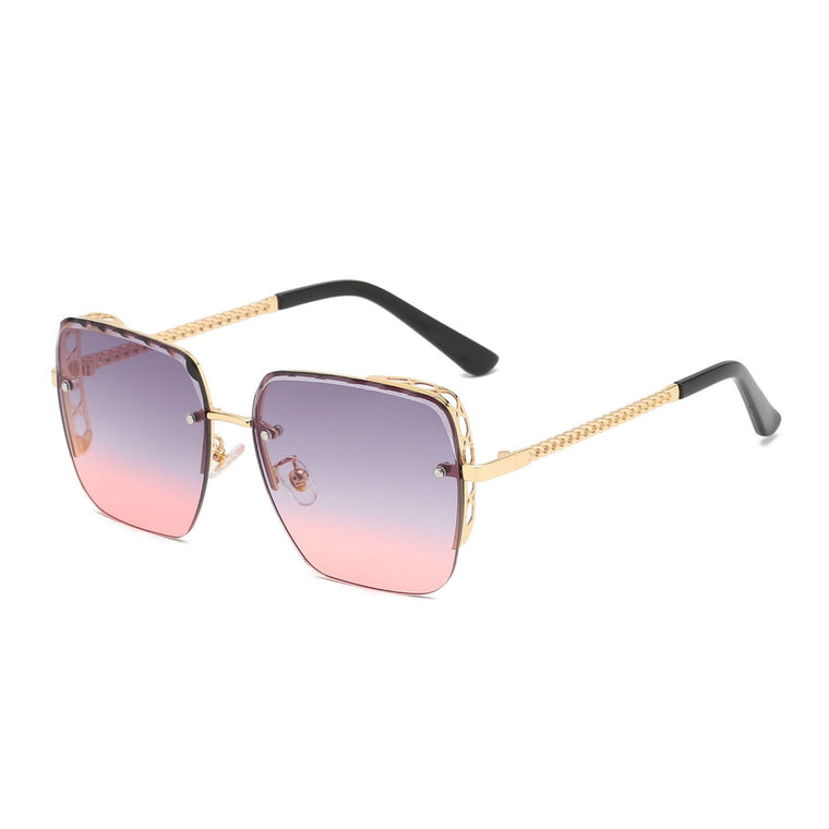 Haleiwa | 58160 - Women Flat Top Square Anti-Reflective Tinted Fashion Sunglasses