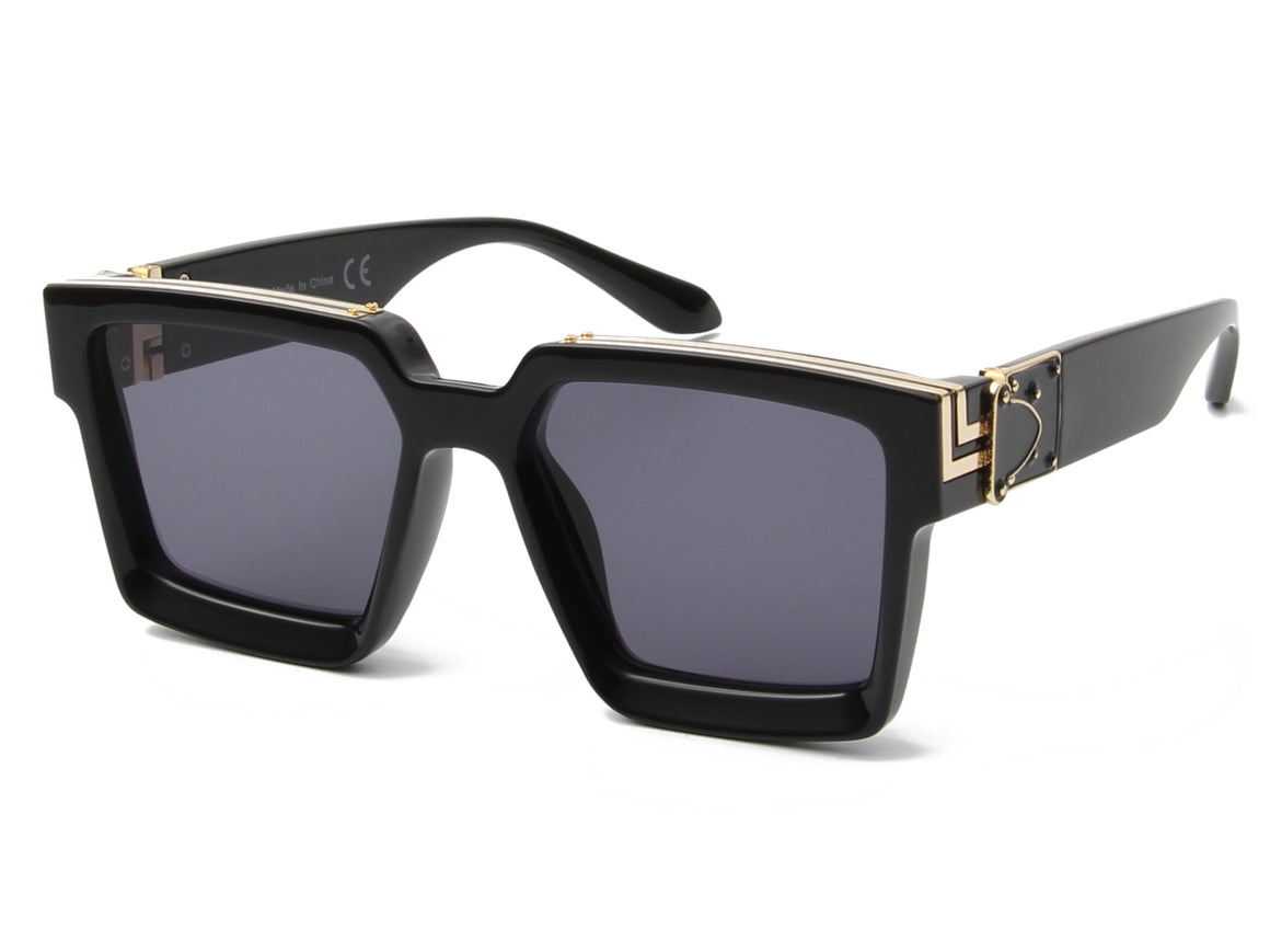 Evanston | S2033 - Classic Retro Vintage Square Fashion Sunglasses