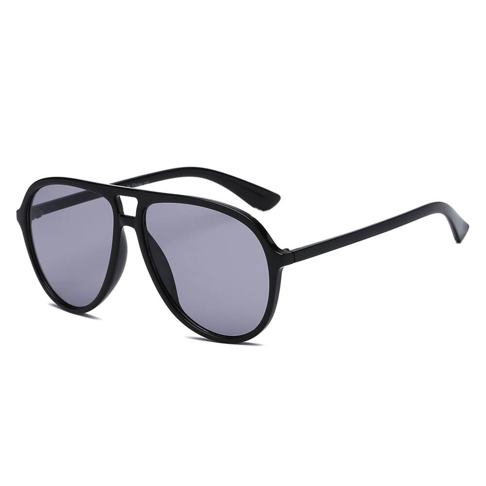 BRANSON | S1083 - Retro Tinted Lens Aviator Sunglasses - Cramilo Eyewear - Stylish Trendy Affordable Sunglasses Clear Glasses Eye Wear Fashion