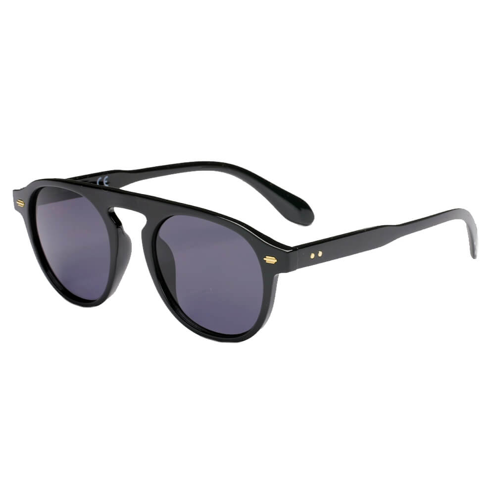 CADIZ | S1120 - Unisex Round Carrera Fashion Round Brow Bar Sunglasses - Cramilo Eyewear - Stylish Trendy Affordable Sunglasses Clear Glasses Eye Wear Fashion