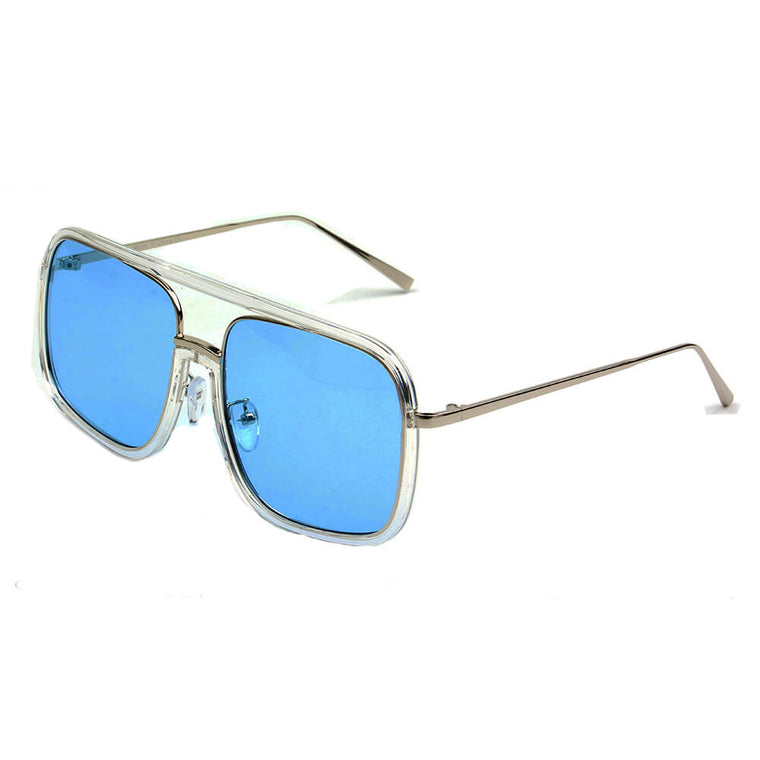 MAGNA | S3004 - Oversized Pillowed Square Fashion Rim Aviator Design Sunglasses - Cramilo Eyewear - Stylish Trendy Affordable Sunglasses Clear Glasses Eye Wear Fashion