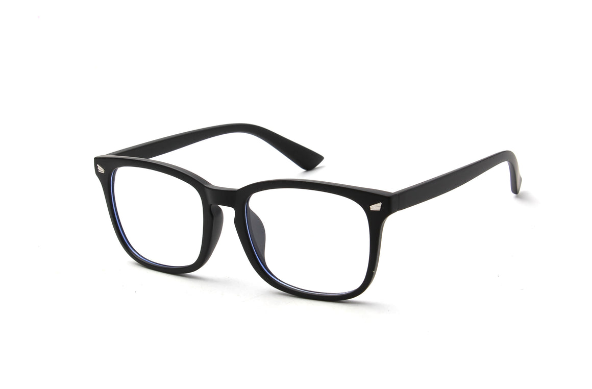 Venezia | Classic Rectangle Horn Rimmed Blue Light Blocker Glasses
