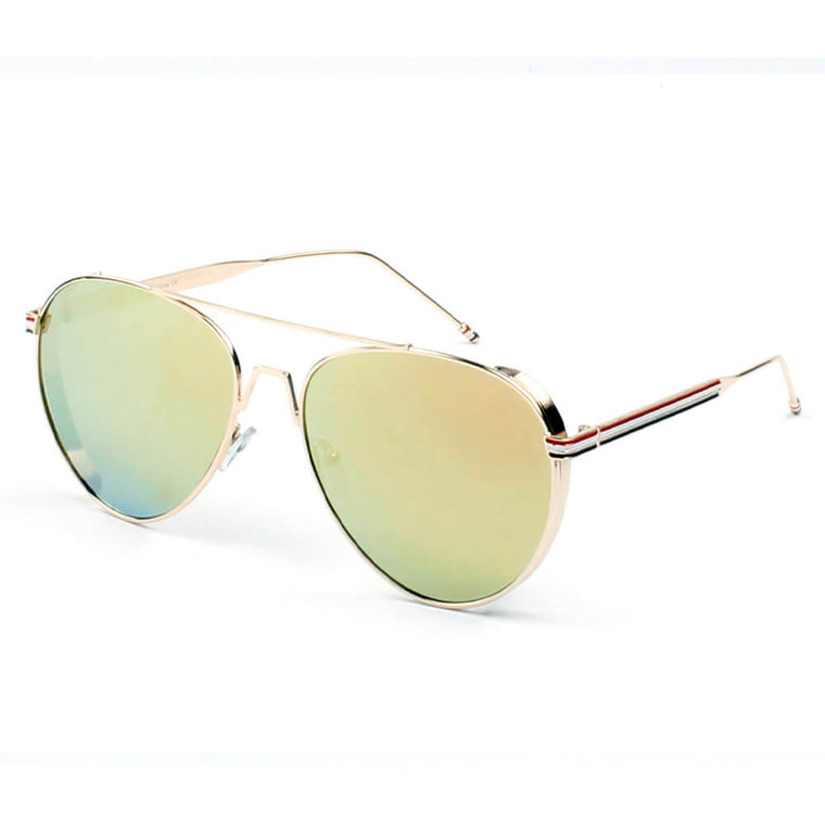 EASTON | D36 - Classic Patriotic Teardrop Aviator Sunglasses - Cramilo Eyewear - Stylish Trendy Affordable Sunglasses Clear Glasses Eye Wear Fashion