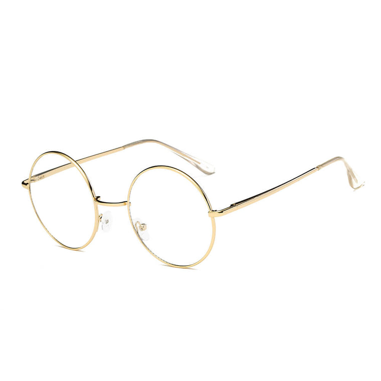 ABERDEEN | F1003 - Round Circle Clear Lens Metal Fashion Glasses Eyewear - Cramilo Eyewear