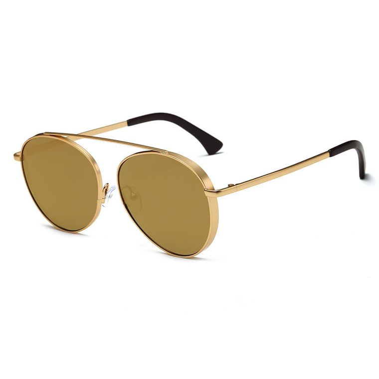 BETHEL | CA08 - Retro Mirrored Lens Teardrop Aviator Sunglasses - Cramilo Eyewear - Stylish Trendy Affordable Sunglasses Clear Glasses Eye Wear Fashion