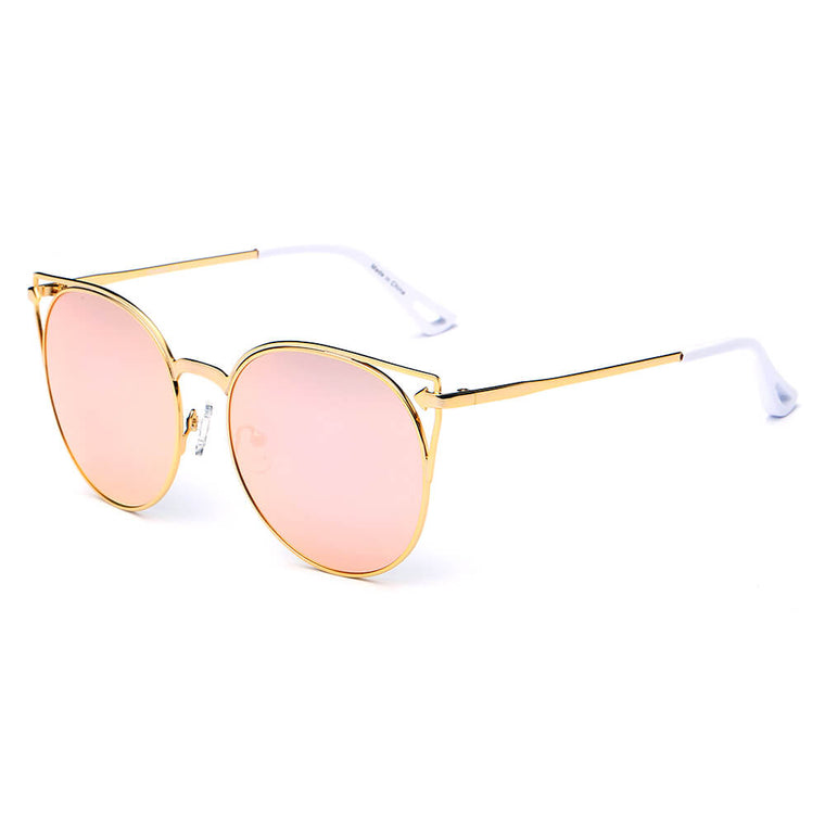 CLAYTON | CA04 - Women Round Petite Cat Eye Sunglasses Circle - Cramilo Eyewear - Stylish Trendy Affordable Sunglasses Clear Glasses Eye Wear Fashion