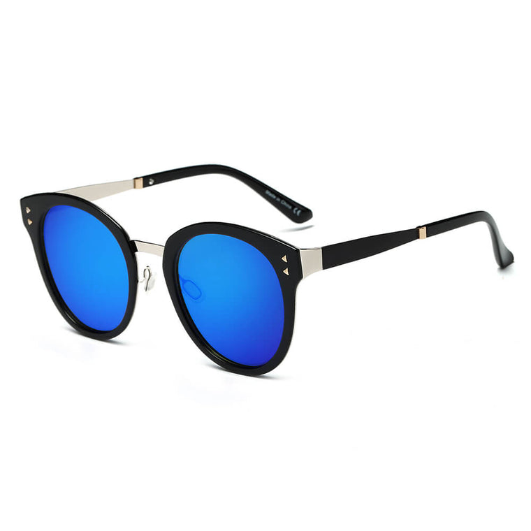 CHENEY | CA16 - Hipster Polarized Lens Horned Rim Retro Fashion Sunglasses - Cramilo Eyewear - Stylish Trendy Affordable Sunglasses Clear Glasses Eye Wear Fashion