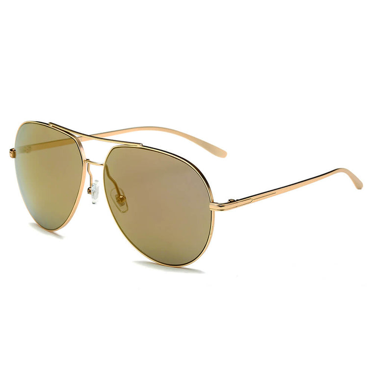 ESTERO | CD01 - Unisex Oversize Mirrored Lens Aviator Sunglasses - Cramilo Eyewear - Stylish Trendy Affordable Sunglasses Clear Glasses Eye Wear Fashion
