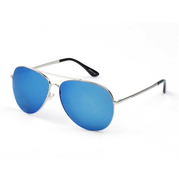 CANTON | CB08- Classic Metal Polarized Mirrored Aviator Sunglasses - Cramilo Eyewear - Stylish Trendy Affordable Sunglasses Clear Glasses Eye Wear Fashion