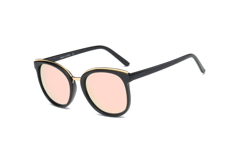 ANGELES | S1004 - Women Round Cat Eye Fashion Sunglasses Circle - Cramilo Eyewear - Stylish Trendy Affordable Sunglasses Clear Glasses Eye Wear Fashion