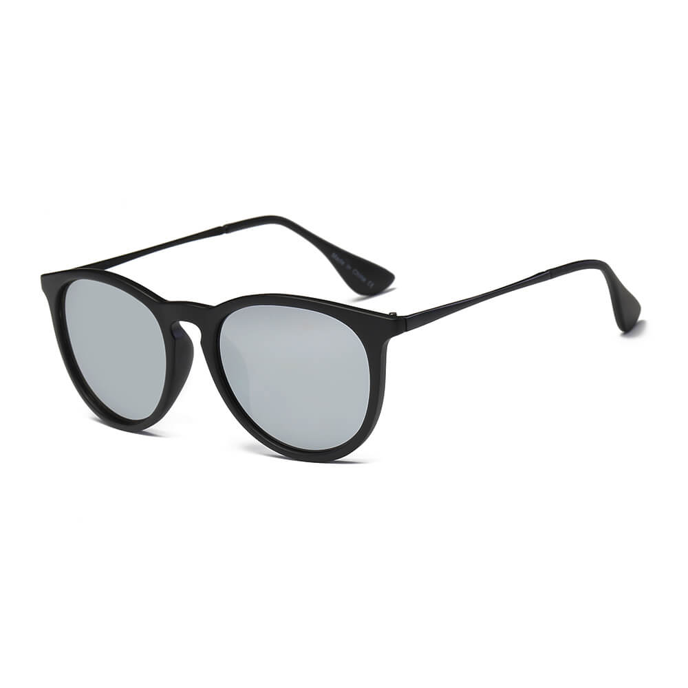 AMES | D35 - Retro Vintage Inspired Horned Keyhole Round Sunglasses - Cramilo Eyewear