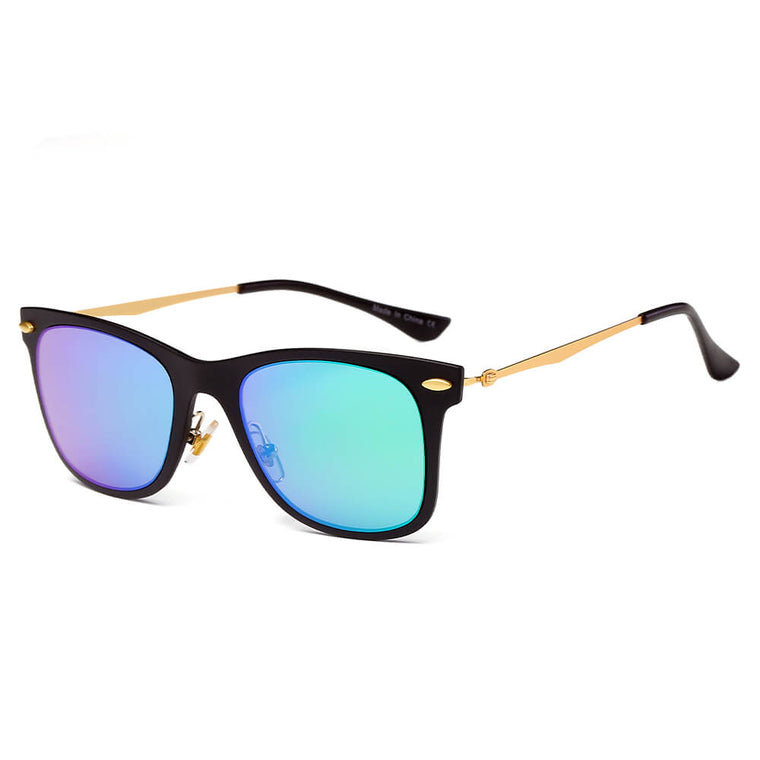 DUGALD | D31 - Classic Horn Rimmed Rectangle Fashion Sunglasses - Cramilo Eyewear - Stylish Trendy Affordable Sunglasses Clear Glasses Eye Wear Fashion
