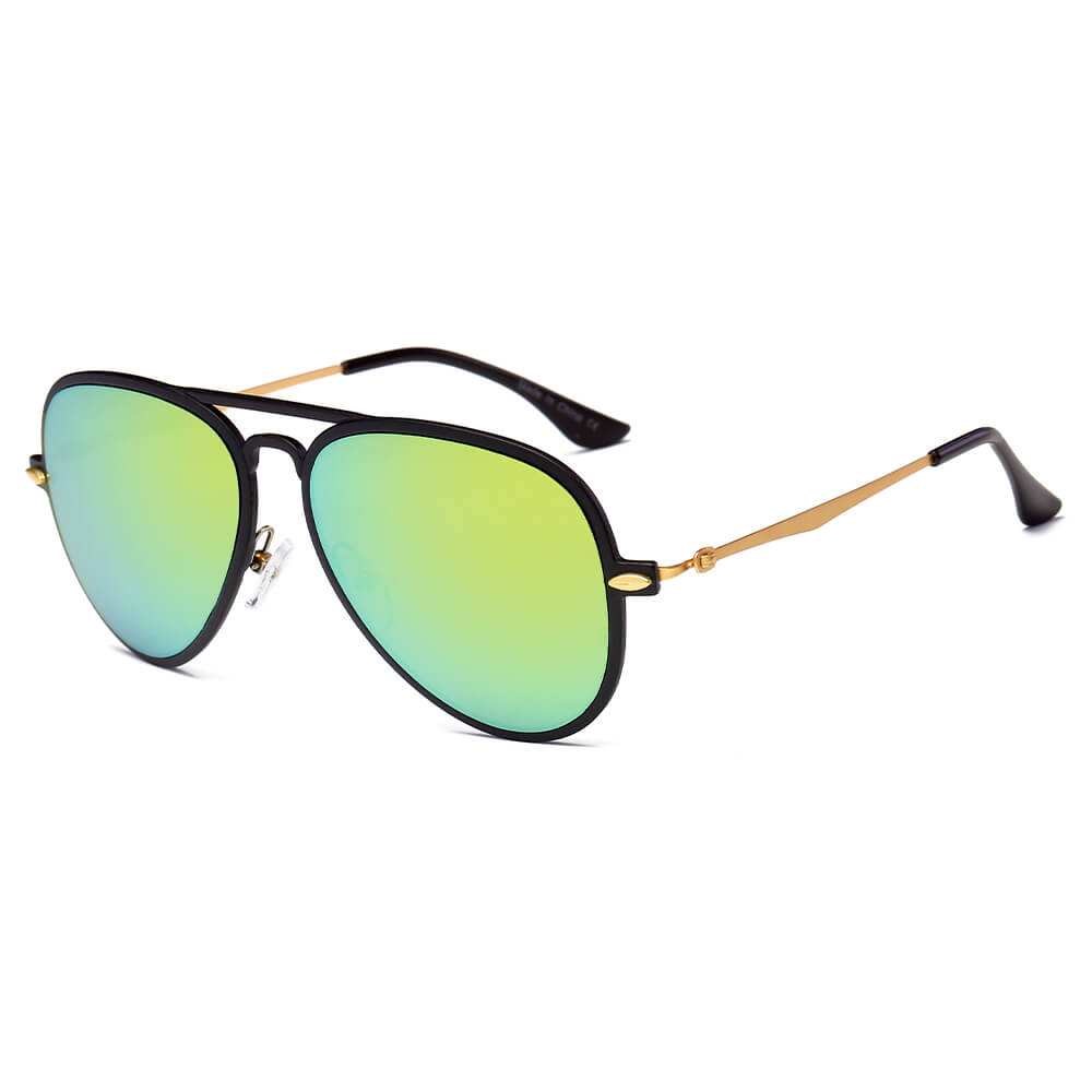 DURHAM | D30 - Unisex Mirrored Aviator Fashion Sunglasses - Cramilo Eyewear - Stylish Trendy Affordable Sunglasses Clear Glasses Eye Wear Fashion