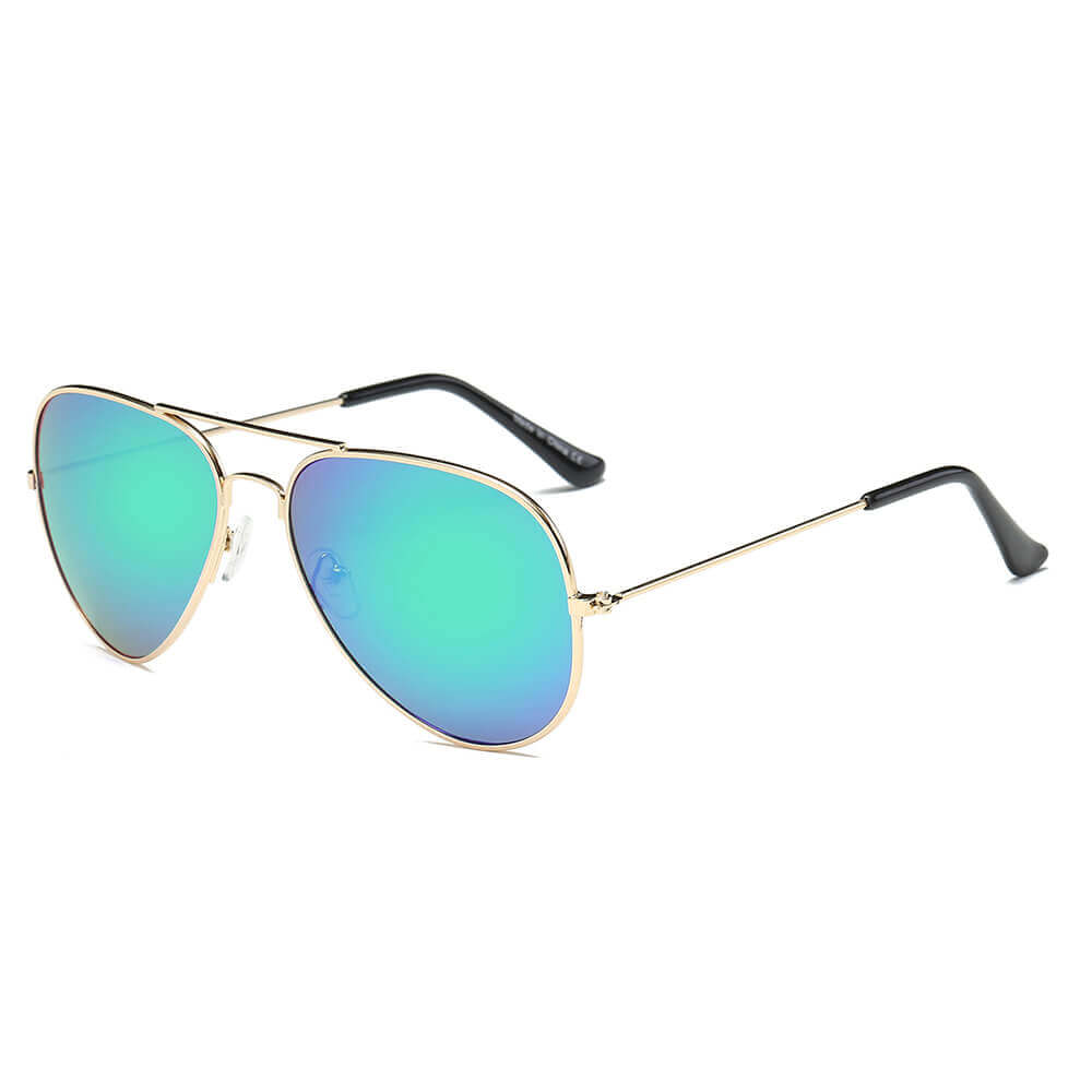 AARUS | 3025 - Unisex Classic Metal Teardrop Aviator Shades Sunglasses - Cramilo Eyewear - Stylish Trendy Affordable Sunglasses Clear Glasses Eye Wear Fashion