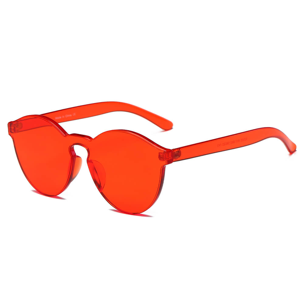 FARGO | S2005 - Hipster Translucent Unisex Monochromatic Candy Colorful Lenses Sunglasses - Cramilo Eyewear - Stylish Trendy Affordable Sunglasses Clear Glasses Eye Wear Fashion