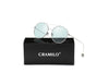 EUREKA | S1016 - Unisex Round Tinted Lens Aviator Clear Glasses Balled Sunglasses