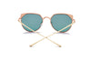 HERSHEY | A17 - Women's Flat Lens Metal Frame Cat Eye Sunglasses