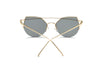 DILLON | D70 - Modern Cat Eye Mirrored Flat Lens Sunglasses Circle