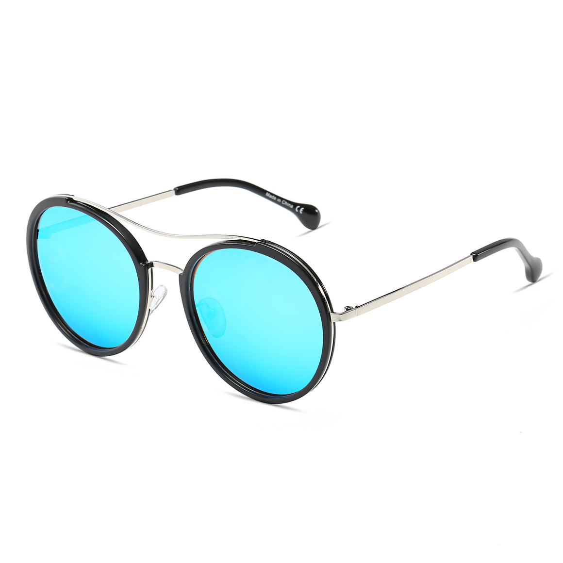 EMPORIA | CA14 - Retro Polarized Lens Circle Round Sunglasses
