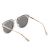 FERNDALE | CA12 - Mirrored Polarized Lens Oversize Cat Eye Sunglasses
