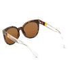 HYANNIS | E07 - Jaunty Mirrored Lens Soft Cat Eye Sunglasses