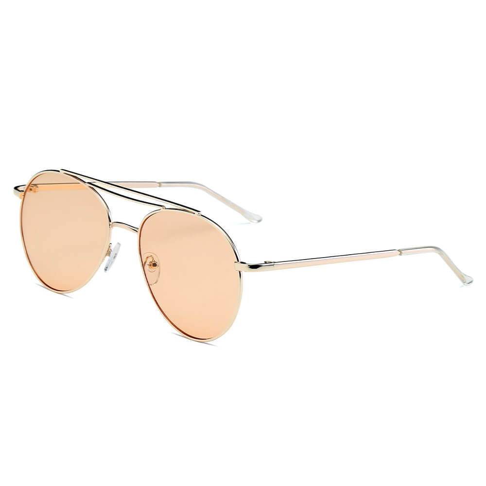 EDMOND | S1019 - Unisex Aviator Clear Glasses Style Fashion Sunglasses Circle - Cramilo Eyewear - Stylish Trendy Affordable Sunglasses Clear Glasses Eye Wear Fashion