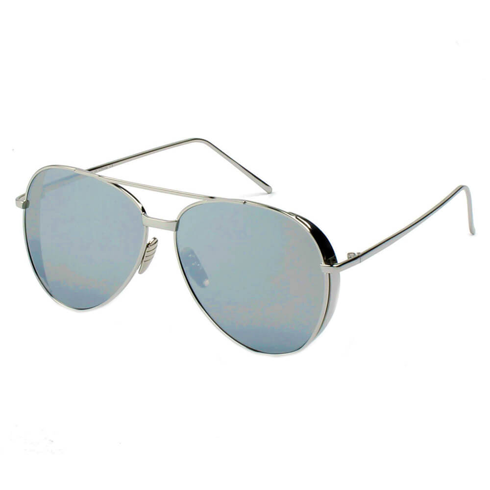 DELAN | CD12 - Premium Mirrored Lens Oversize Aviator Sunglasses - Cramilo Eyewear - Stylish Trendy Affordable Sunglasses Clear Glasses Eye Wear Fashion