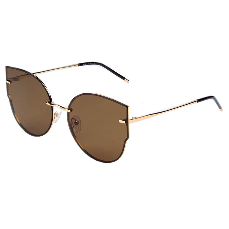 CUENCA | SHIVEDA PJ703 - Women Polarized Flat Lens Round Designer Cat Eye Sunglasses - Cramilo Eyewear - Stylish Trendy Affordable Sunglasses Clear Glasses Eye Wear Fashion