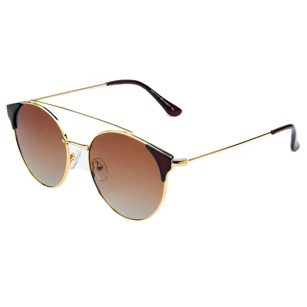 ANTEQUERA | SHIVEDA PJ714 - Women Round Polarized Point Tip Cat Eye Fashion Sunglasses - Cramilo Eyewear
