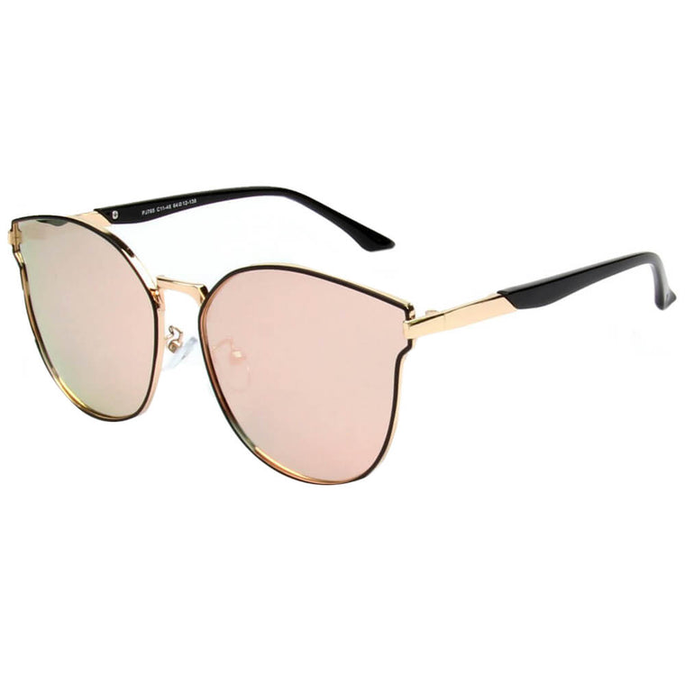 ELCHE | SHIVEDA PJ765 - Women Round Cat Eye Polarized Sunglasses - Cramilo Eyewear - Stylish Trendy Affordable Sunglasses Clear Glasses Eye Wear Fashion