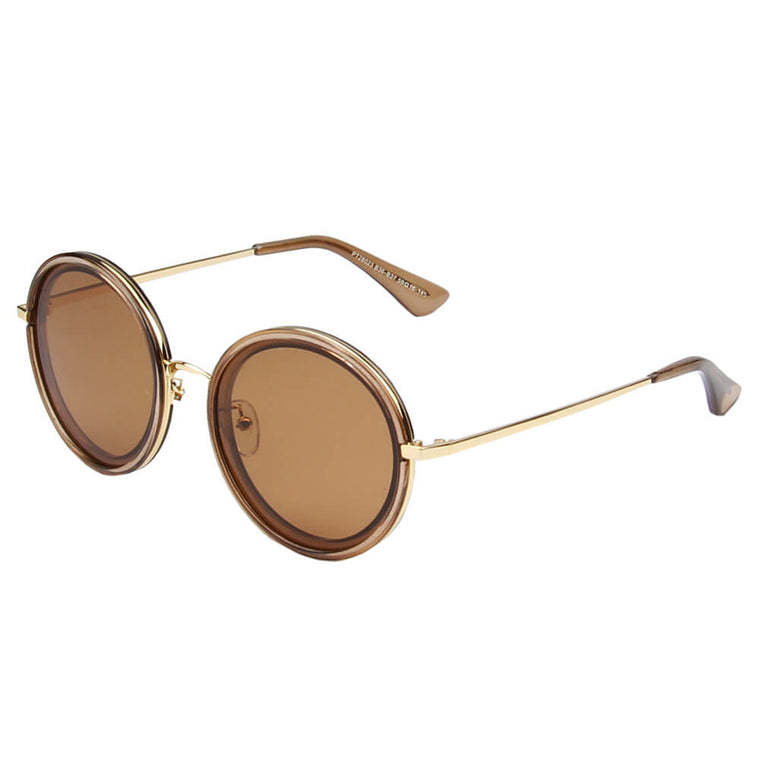 BARI | SHIVEDA PT28023 - Women Round Polarized Fashion Sunglasses - Cramilo Eyewear - Stylish Trendy Affordable Sunglasses Clear Glasses Eye Wear Fashion