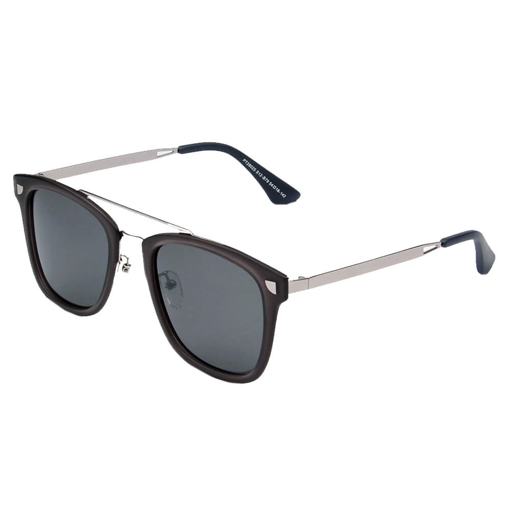 BRESCIA | SHIVEDA PT28025 - Polarized Square Fashion Sunglasses - Cramilo Eyewear - Stylish Trendy Affordable Sunglasses Clear Glasses Eye Wear Fashion
