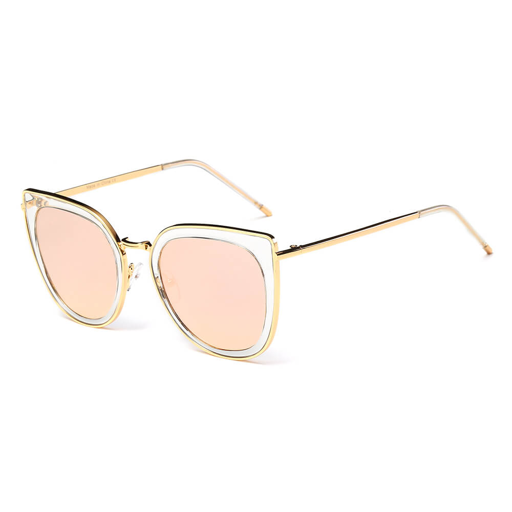 CADOTT | S2002 - Classic Retro Vintage Cat Eye Sunglasses for Women - Cramilo Eyewear - Stylish Trendy Affordable Sunglasses Clear Glasses Eye Wear Fashion