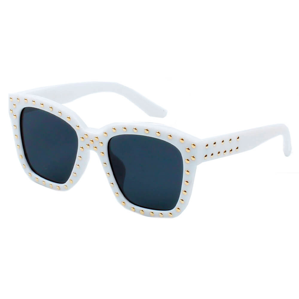 EPPING | D34 - Hipster Marquee Lights Square Frame Sunglasses - Cramilo Eyewear - Stylish Trendy Affordable Sunglasses Clear Glasses Eye Wear Fashion