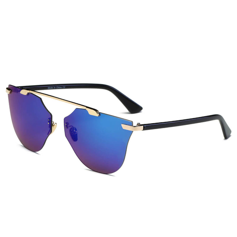 ALLEGAN | S2032 - Women Round Cat Eye Sunglasses - Cramilo Eyewear