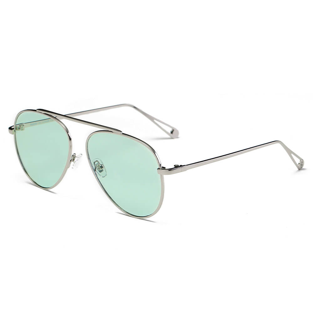 HIDALGO | S2021 - Metal Oversize Tinted Lens Aviator Sunglasses - Cramilo Eyewear - Stylish Trendy Affordable Sunglasses Clear Glasses Eye Wear Fashion