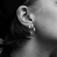 Load image into Gallery viewer, Hammered Earrings Big