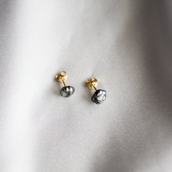 Keshi Pearl Earrings Gold