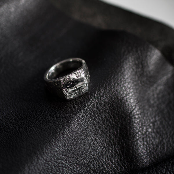 Moulded Square Signet Ring