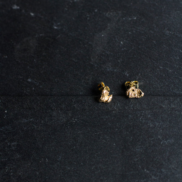 Zero Waste Earrings Gold