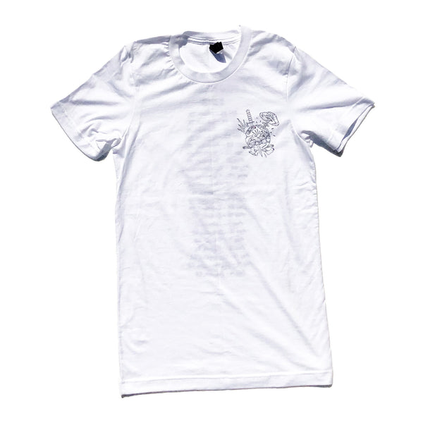 White USA Tour T-shirt *LEFTOVER STOCK*