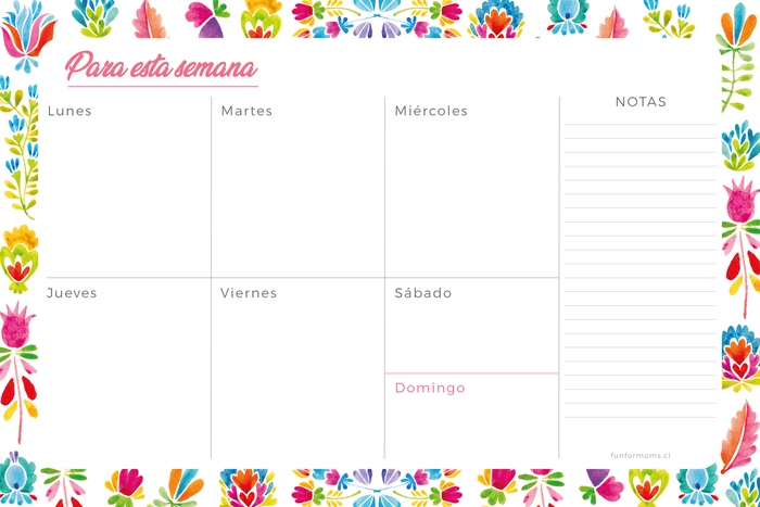 Planner Semanal Flores Mexicanas