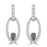 14K White & Yellow gold Alexandrite 0.32cts and Diamond 0.49cts (SI1-VS, G-H) Earrings by La Vita Vital