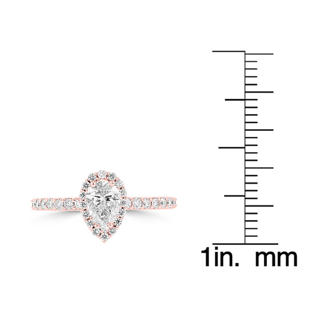 14K Rose Gold Diamond 1.00ct TDW Engagement Ring