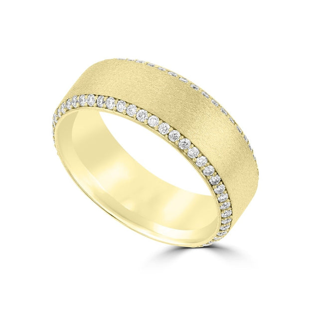 .83ct TDW 14 Karat Yellow Gold Men's Diamond Ring